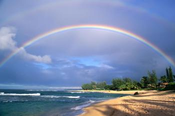 Secretus.org - Double Rainbow Over The Sea